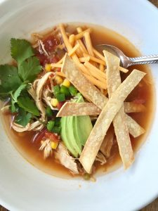 Instant Pot Chicken Tortilla Soup   Confessions of a Fit Foodie