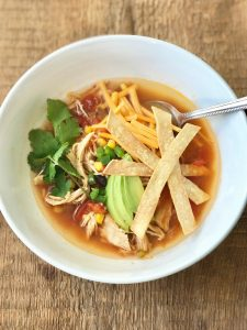 nstant Pot Chicken Tortilla Soup   Confessions of a Fit Foodie