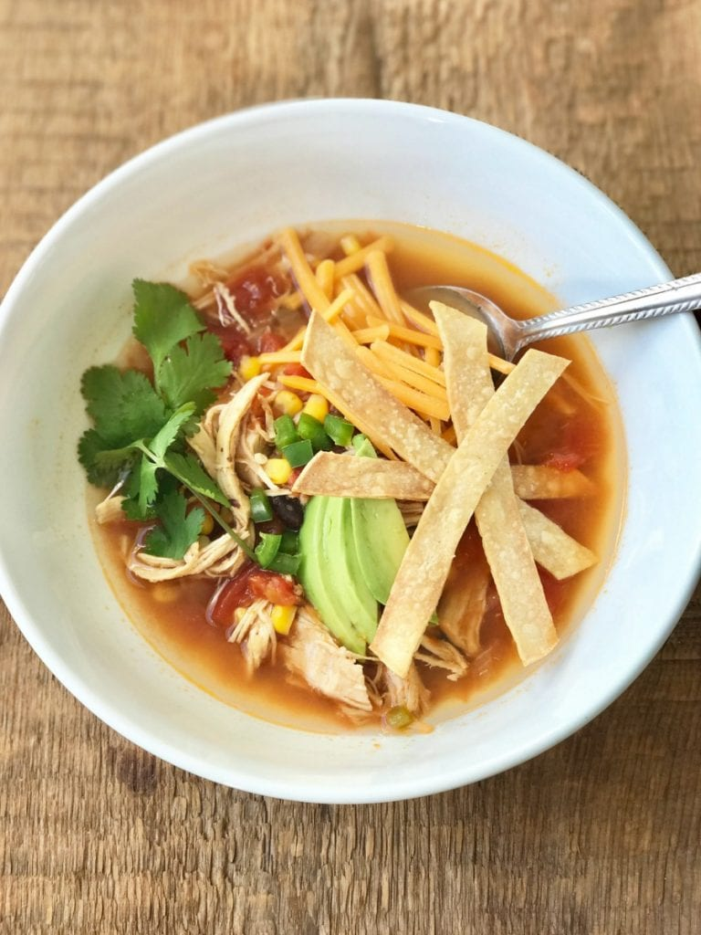 nstant Pot Chicken Tortilla Soup | Confessions of a Fit Foodie