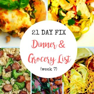 Dinner Plan & Grocery List (week 7)
