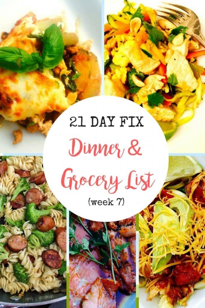 21 Day Fix Dinner Plan