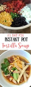 Instant Pot Chicken Tortilla Soup | Confessions of a Fit Foodie