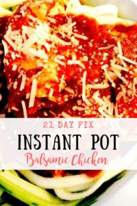 21 Day Fix Instant Pot Balsamic Chicken
