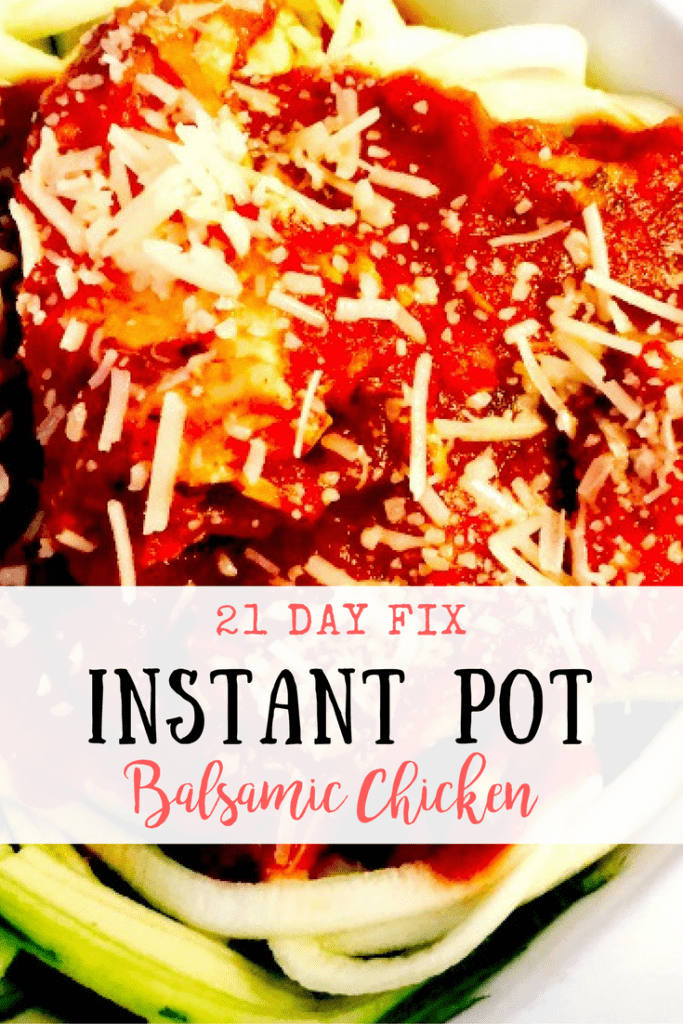 21 Day Fix Instant Pot Balsamic Chicken