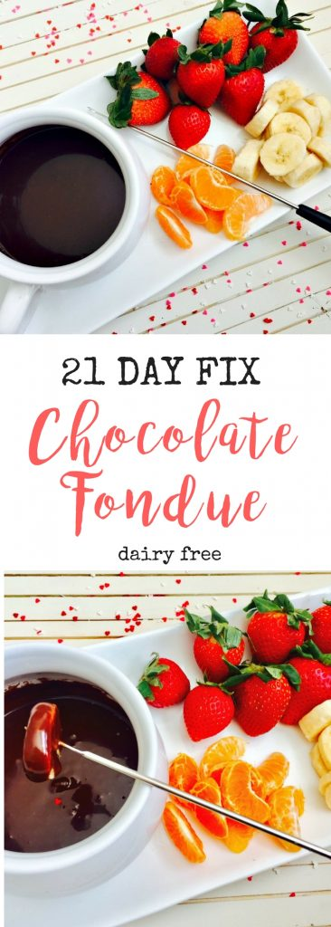 21 Day Fix Fondue! Only 1 1/2 tsp per 2-3 T serving! YUM!