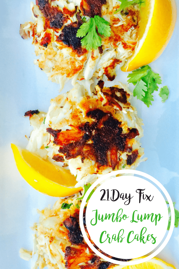 21 Day Fix Jumbo Lump Crab Cakes {Gluten-free} | Confessions of a Fit Foodie