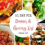 Need delicious dinner inspiration for the 21 Day Fix? Check out this Meal Plan and Grocery list for an easy, organized week!