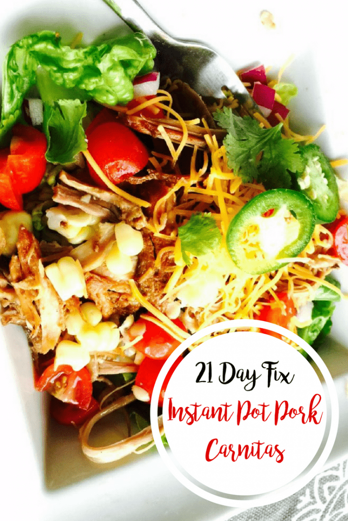 21 Day Fix Instant Pot Pork Carnitas | Confessions of a Fit Foodie