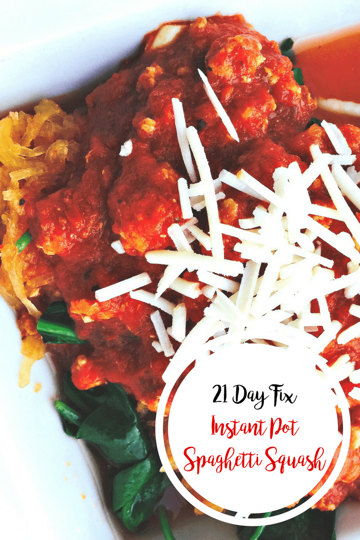 21 Day Fix Instant Pot Spaghetti Squash | Confessions of a Fit Foodie