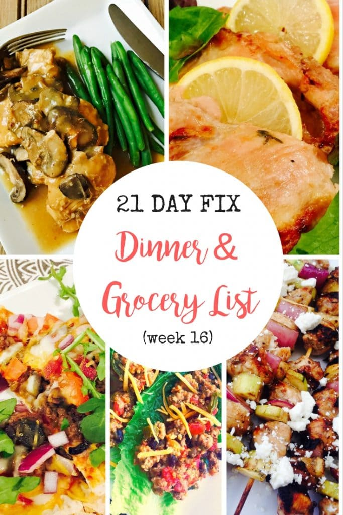 Super Easy Meal Planning for the 21 Day Fix! Grocery List included, too!