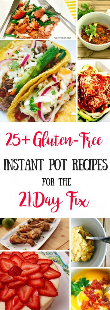 Gluten-free Instant Pot Recipes for the 21 Day Fix |Confessions of a Fit Foodie