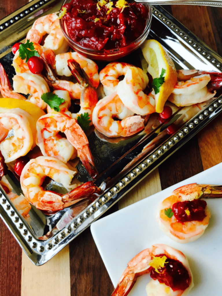 21 Day Fix Roasted Shrimp Cocktail with Cranberry Horseradish Chutney | Confessions of a Fit Foodie