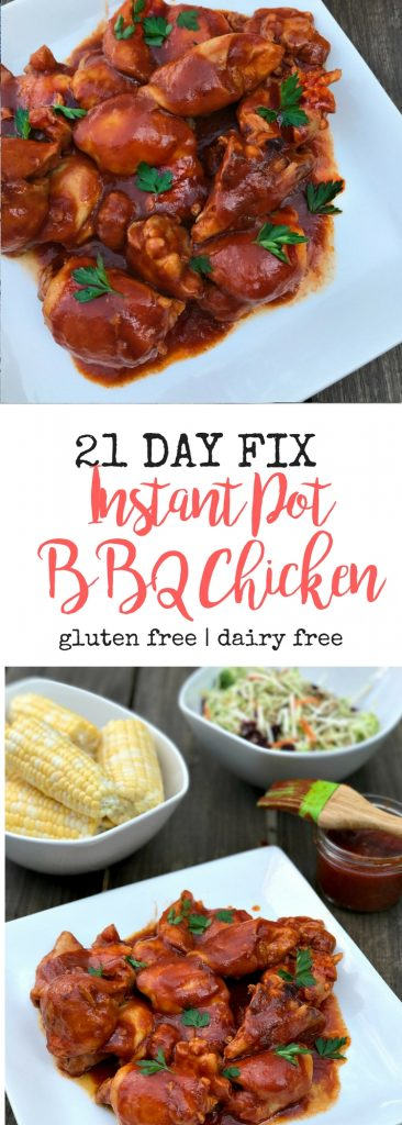 21 Day Fix Instant Pot BBQ Chicken | Confessions of a Fit Foodie
