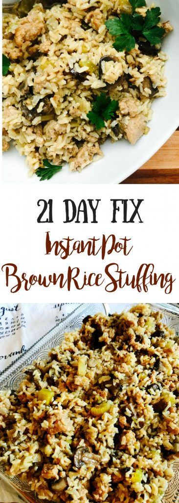 nstant Pot Brown Rice Stuffing | Confessions of a Fit Foodie