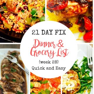 Easy Meal Plan 21 Day Fix | Confessions of a Fit Foodie