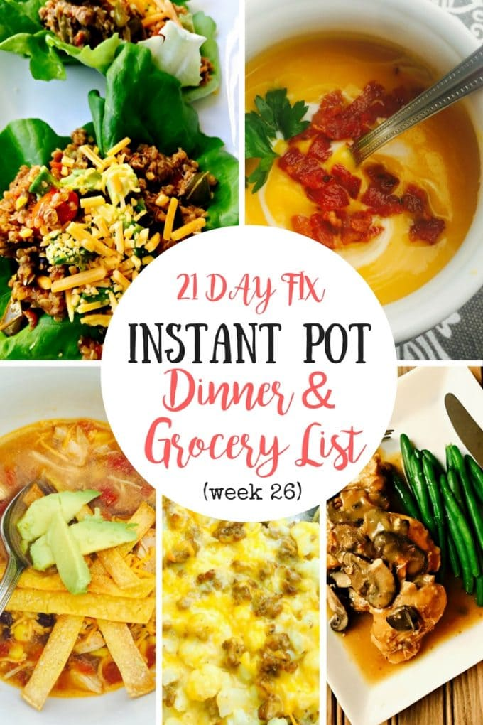 Instant Pot Meal Plan | Confessions of a Fit Foodie
