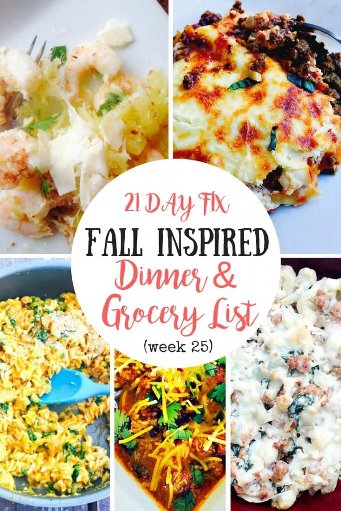 21 Day Fix Meal Plan | Confessions of a Fit Foodie
