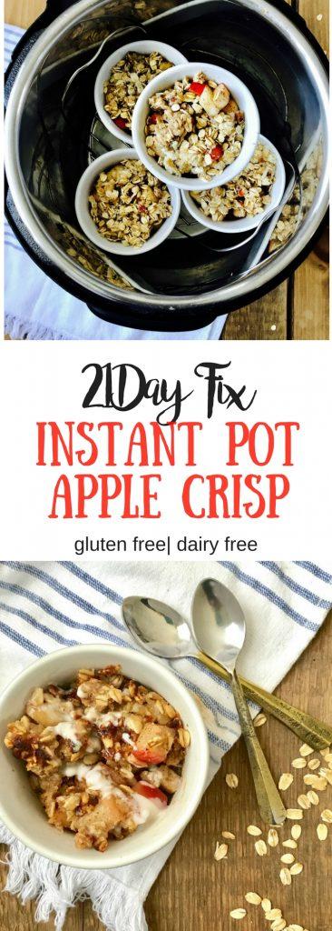 21 Day Fix Instant Pot Apple Crisp|Confessions of a Fit Foodie
