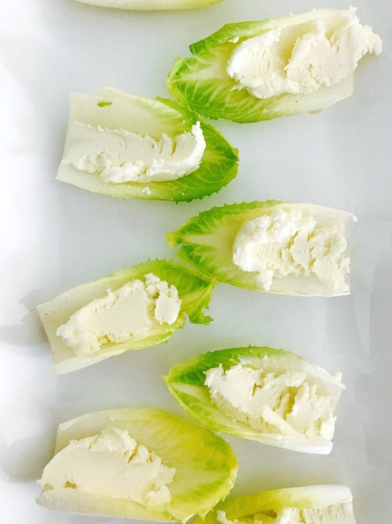 21 Day Fix Endive Bruschetta Bites with Honey Goat Cheese | Confessions of a Fit Foodie