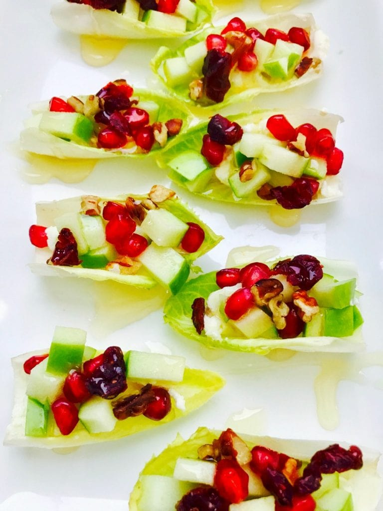 21 Day Fix Fall Harvest Endive Bruschetta with Goat Cheese