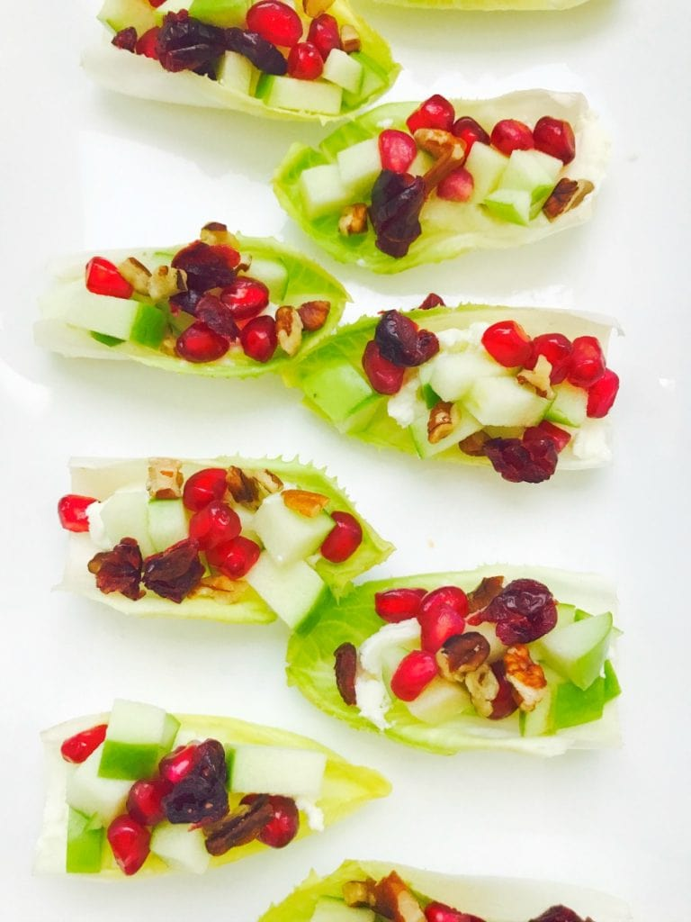21 Day Fix Endive Bruschetta Bites with Honey Goat Cheese