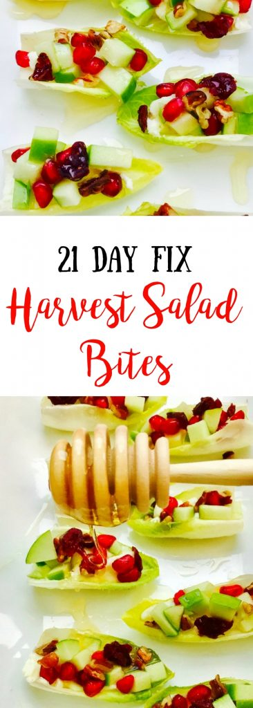 21 Day Fix Harvest Salad Bites with Honey Goat Cheese | Confessions of a Fit Foodie