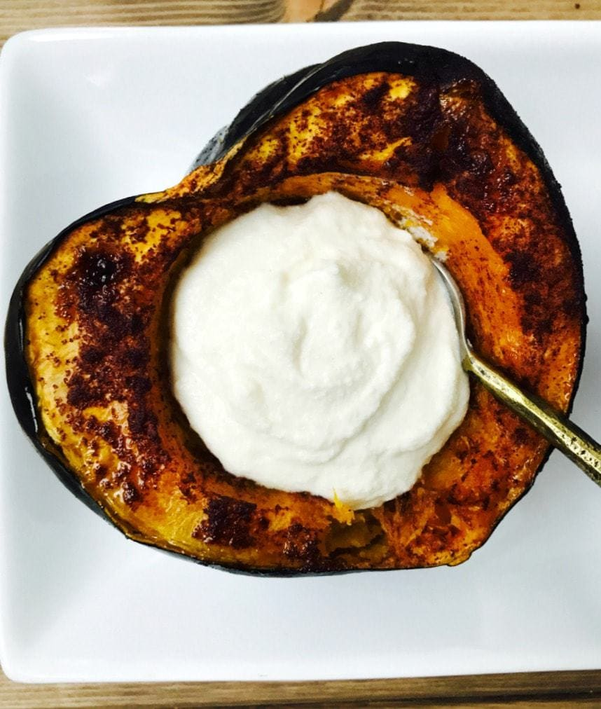 21 Day Fix Maple Roasted Acorn Squash | Confessions of a Fit Foodie