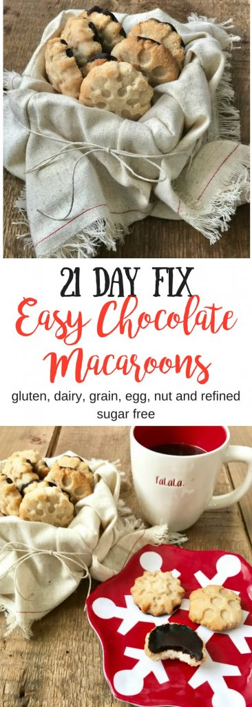 21 Day Fix Easy Chocolate Macaroons | Confessions of a Fit Foodie