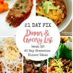 80 Day Obsession Meal Plan & Grocery List
