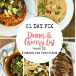 21 Day Fix Meal Plan and Grocery List|Confessions of a Fit Foodie