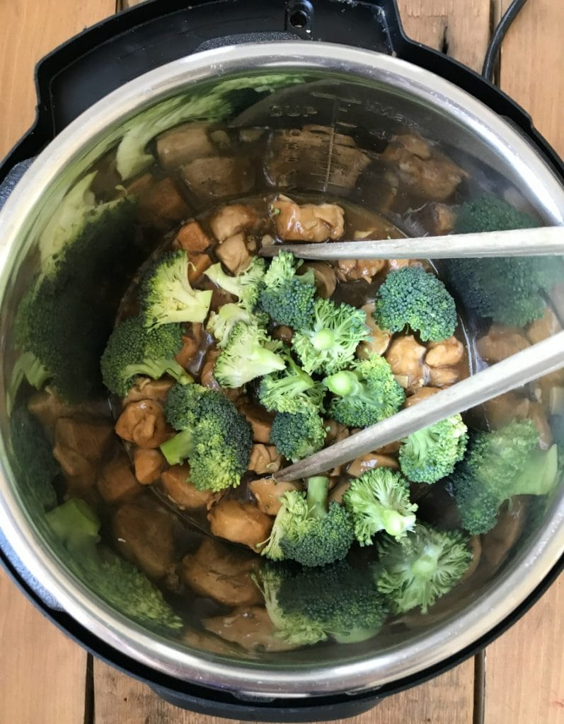 Overhead shot of Instant Pot Chicken and Broccoli