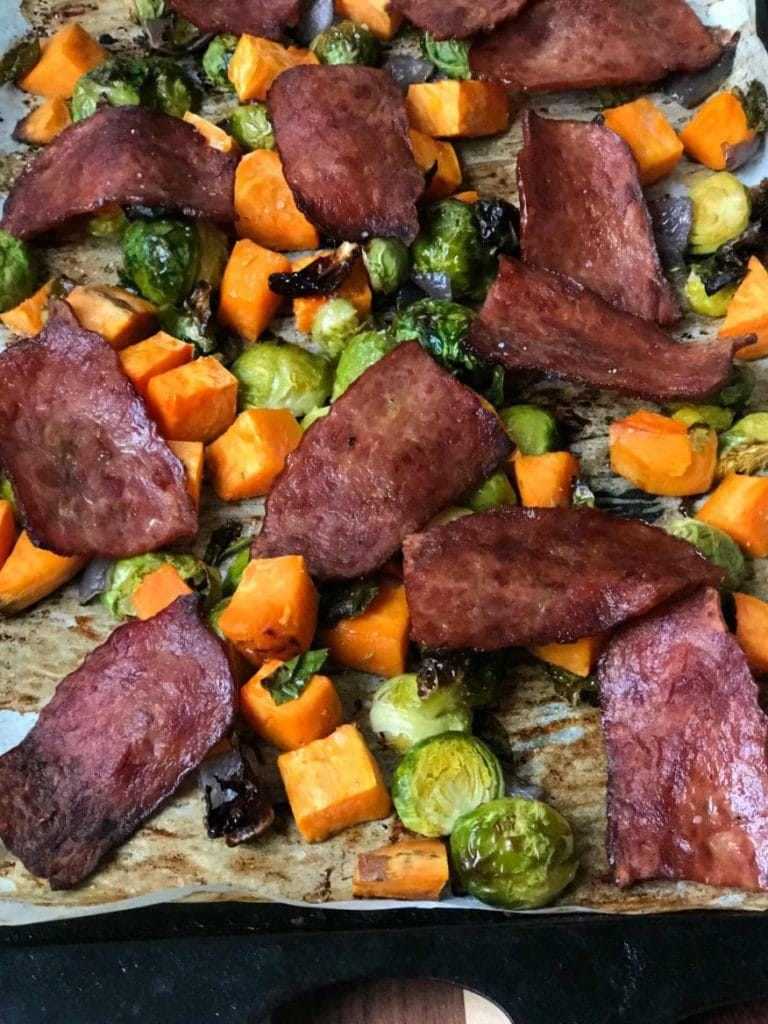80 Day Obsession Sweet Potato Sheet Pan Breakfast | Confessions of a Fit Foodie