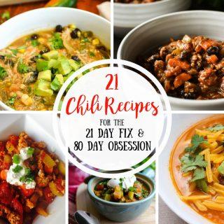21 Day Fix Chili Recipes (80 Day Obsession Friendly)