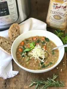 Instant Pot Lentil Soup Confessions of a Fit Foodie | 21 Day Fix Lentil Soup
