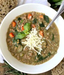 Instant Pot Lentil Soup Confessions of a Fit Foodie   21 Day Fix Lentil Soup