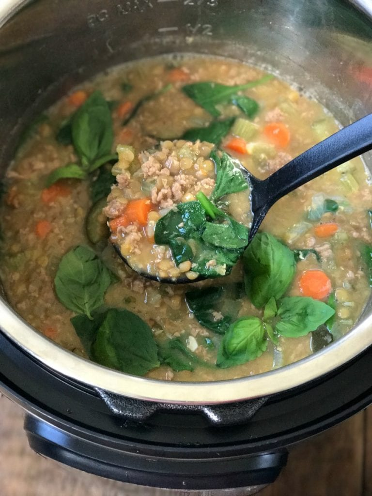 Instant Pot Lentil Soup Confessions of a Fit Foodie | 21 Day Fix Lentil Soup