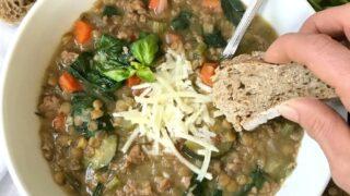 Instant Pot Sausage and Lentil Soup (21 Day Fix/Stove-top Option)