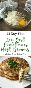 Low Carb Cauliflower Hash Browns   Confessions of a Fit Foodie