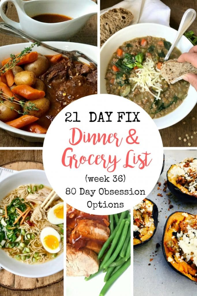 21 Day Fix Meal Plan and Grocery List | Confessions of a Fit Foodie