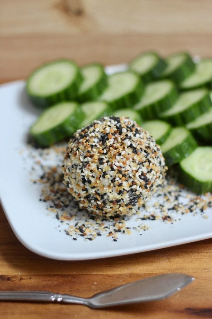 Everything Bagel Goat Cheese   Confessions of a Fit Foodie