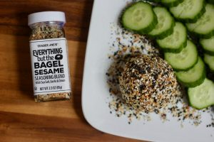 Everything Bagel Goat Cheese | Confessions of a Fit Foodie