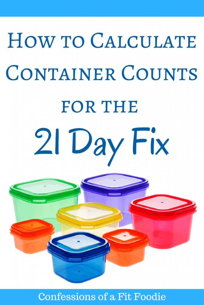Colorful portion containers with blue text that says, How to calculate container counts for the 21 Day Fix | Confessions of a Fit Foodie