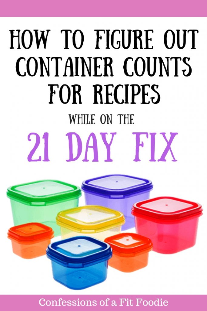 If you ever wondered how to calculate containers for a 21 Day Fix Recipe, especially when cooking a soup, casserole, or a chili where different food groups are mixed together, you are not alone!   The good news is it's very simple! Check out this post to find out how! #21dayfix #21dayfixcontainers #ultimateportionfix