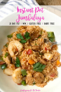 The title card for the recipe presents a plate of jambalaya.