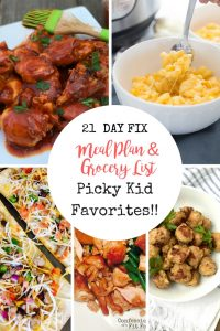 Kid Friendly Meal Plan for the 21 Day Fix | Confessions of a Fit Foodie