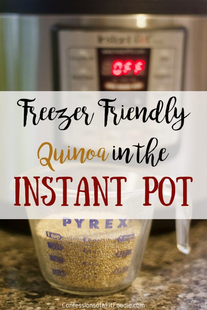Want to have a healthy grain on hand for weeknight easy meals? Making a multi-serving batch of this Freezer Friendly Instant Pot Quinoa could not be easier!