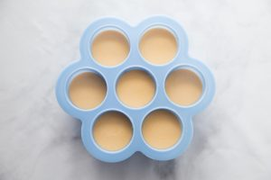 Cheese sauce in silicone molds