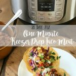 One Minute Freezer Prep Taco Meat