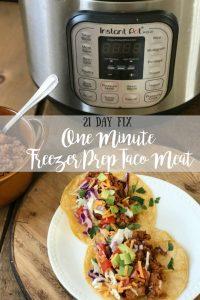 One Minute Freezer Prep Taco Meat