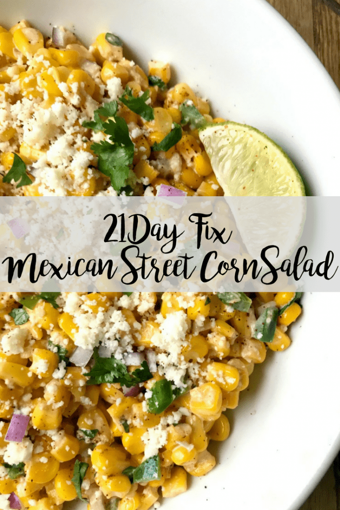 This quick and easy 21 Day Fix Mexican Street Corn Salad has all the flavors of the classic on the cob version, but it's portioned perfectly for the FIX (and it's much easier to eat, too!).